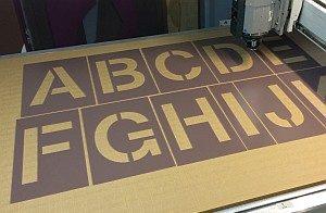 A-Z stencil set
