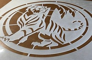 Tiger Beer custom stencil
