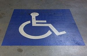 Disabled logo stencil
