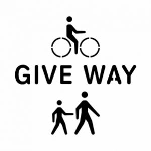 GIVE WAY 300X300PX