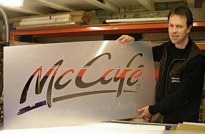 McCafe custom stencil
