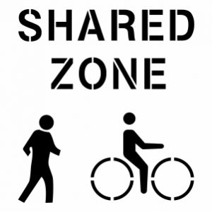 SHARED ZONE - PEDESTRIAN & BICYCLE 300X300PX