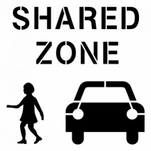 SHARED ZONE - PEDESTRIAN & CAR 300X300PX
