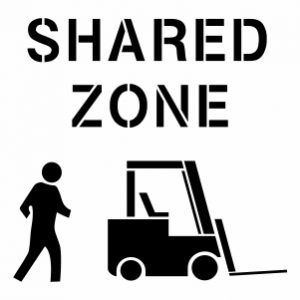 SHARED ZONE - PEDESTRIAN & FORKLIFT 300X300PX